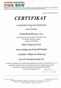 certyfikat komeko