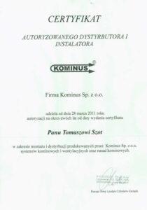 certyfikat kominus